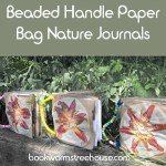 Paper Bag Nature Journals with Beaded Handles