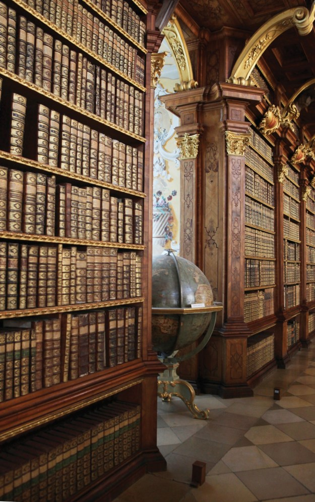 The library of Melk Abbey, Austria; Melk Abbey