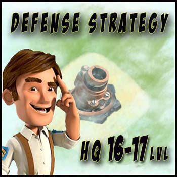 Optimal defense layout for HQ 16 and 17 levels