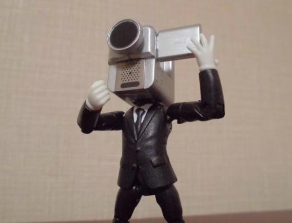 映画泥棒のカメラ男(フィギュアより)
