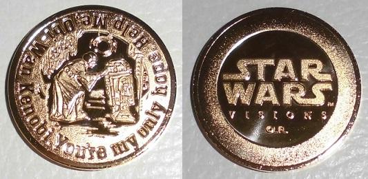 """オリジナルデザインメダル~""""R2-D2&レイア・オーガナ""""  ~ 裏と表 ~"""