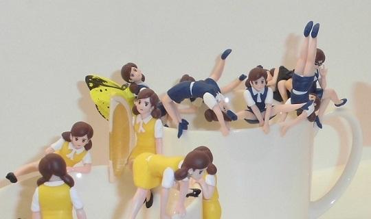 コップのフチ子  … 奇譚クラブ10周年展より