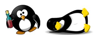 """""""のほほ~ん""""とするペンギン"""