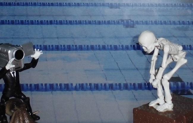 水泳を再現!(ポーズスケルトンより)