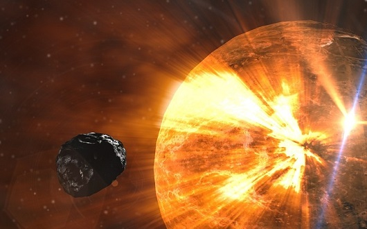 隕石衝突(イメージ画像)