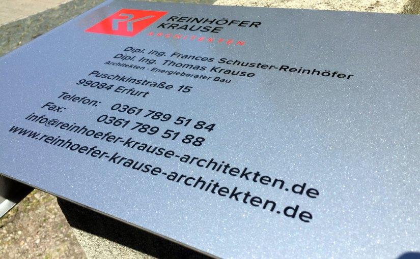 Beschriftung für Architekturbüro