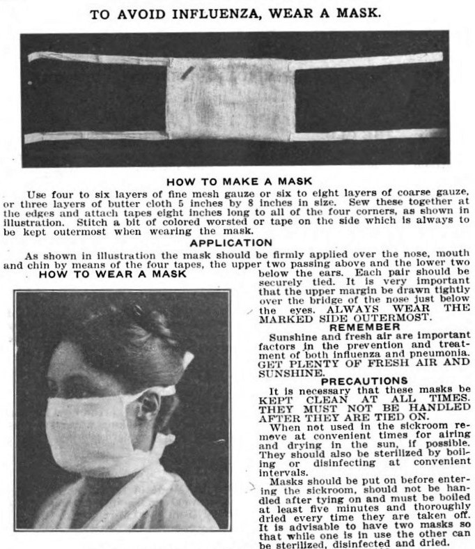 CH_97_03_North_Fig_11-wear-a-mask--CSBHWilfred H KelloggM.D Influenza A Study of Measures Adopted for the Control of the Epidemic Special Bulletin No 31 Sac State Printing Office 1919 2