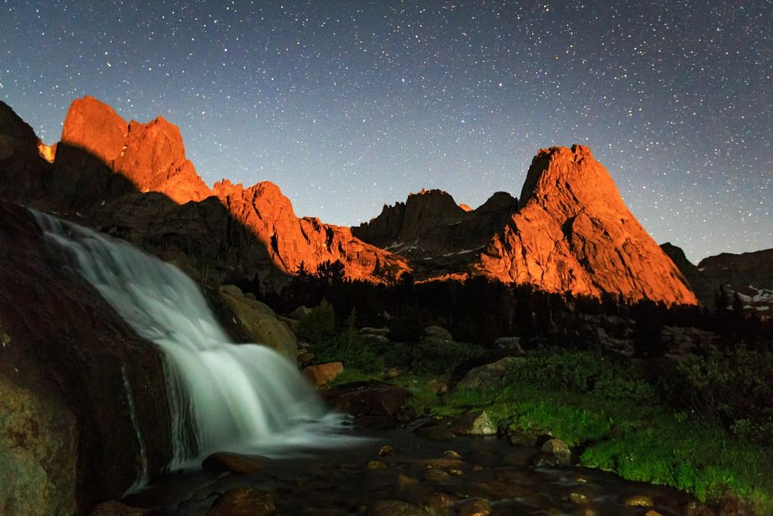 Moonlight on Pingora Peak.