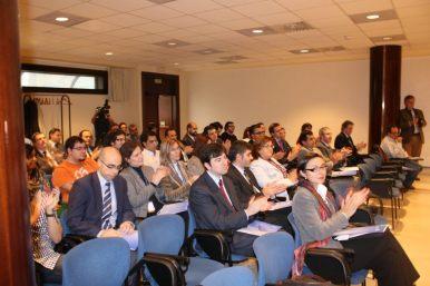 Asistentes a la Inauguración de la I Semana Impulso TIC 2011 en el Auditorio Príncipe Felipe de Oviedo