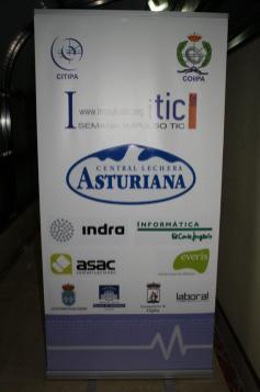 Cartel de patrocinadores de la I Semana Impulso TIC 2011