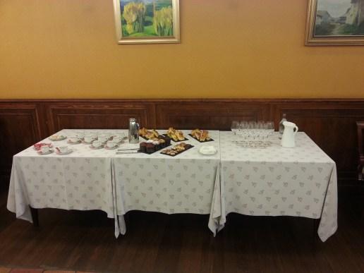 Mesa de coffe anterior al Incentivo Curso de Cocina
