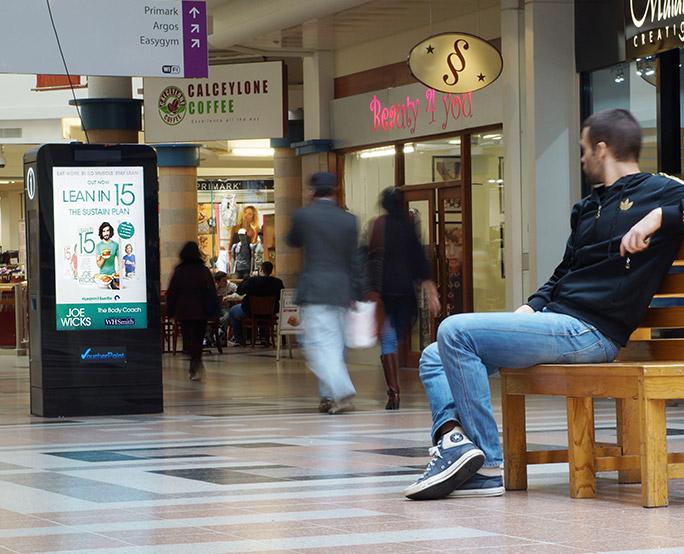 Joe wicks D6 in shooping mall