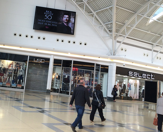 HMV iconic in shopping mall