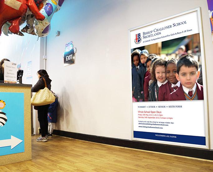 Bishop Challoner school ambient poster in children's playhouse