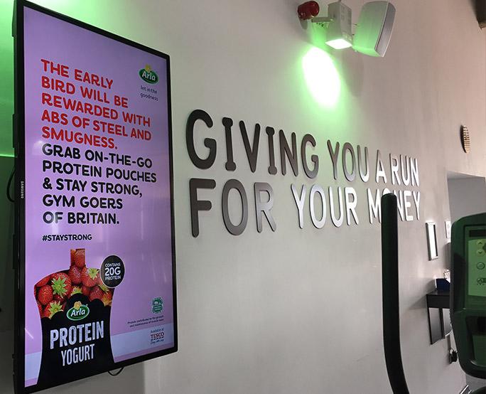Aria D6, slogan, health club