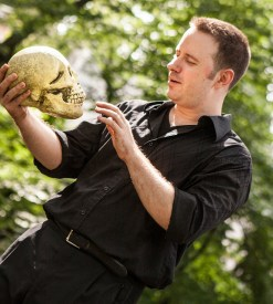Zack Calhoon in HAMLET (photo by Isaiah Tanenbaum)