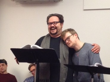 Brian Silliman and Steven Boyer in the First Flight reading of Larry Kunofsky's VAN GOGH AMONG THE HIPSTERS