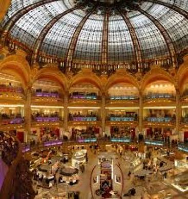 The magical Galeries Lafayette dating from the 1800s is a must-see for any woman visiting Paris. During the Second World War, the entire stained-glass domed ceiling was dismantled and stored for safe-keeping off-site.