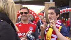 Shauna Hunt confronts Canadian soccer fans.
