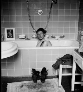 Who was the woman in Hitler's bathtub and how did she get there?