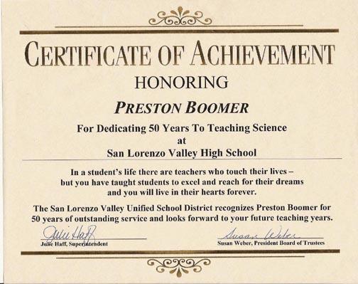 funny certificates achievement