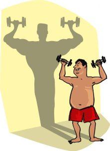 cartoon fat man