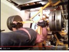bench pressing 610 pounds