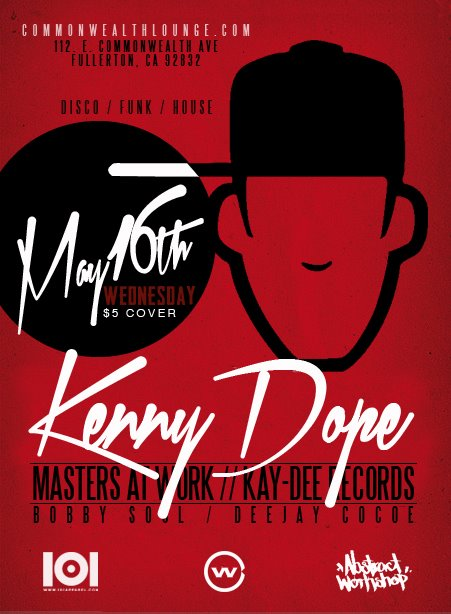 Kenny Dope Wednesday May 16th