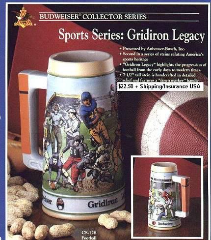 "Budweiser Stein ""Gridiron Legacy"""