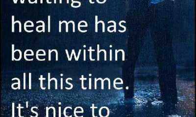 Sad Love Quotes - The person I've been waiting to heal me has been within all this time. It's nice to finally meet you.