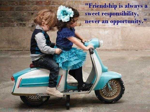 Friendship is always a sweet responsibility - Best Friends Quotes