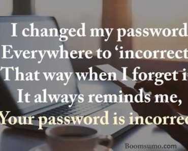 Funny Quotes I changed my password, Next everywhere