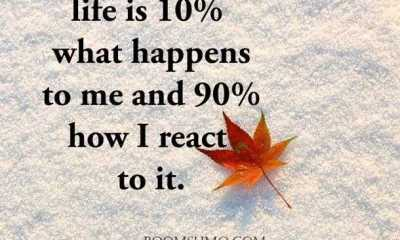 Inspirational short quotes about life is 10% What happen Next Quotes on life