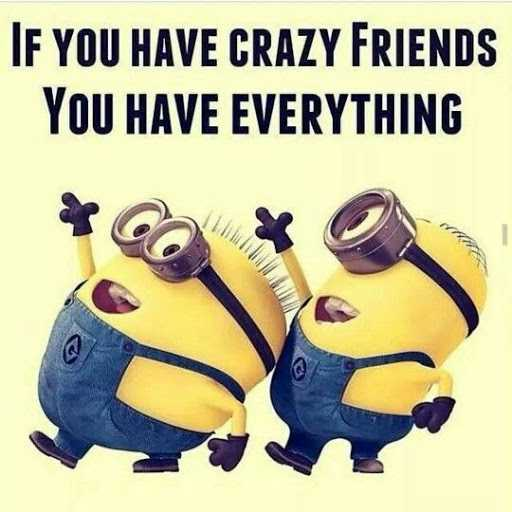 You are my Crazy friends, if You have everything. friends quotes