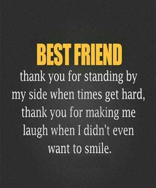 Best Friend Forever Quotes   Best Friend Message Thank You For Standing. U201d
