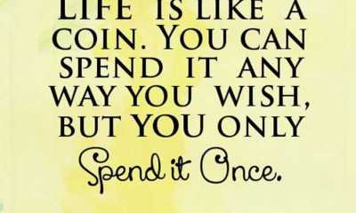 inspirational quotes about life lessons Life is Coin Spend it life quotes