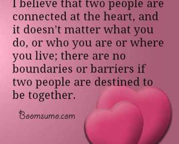Love Quotes and Love Sayings Two People are Connected, Together Quotes on love