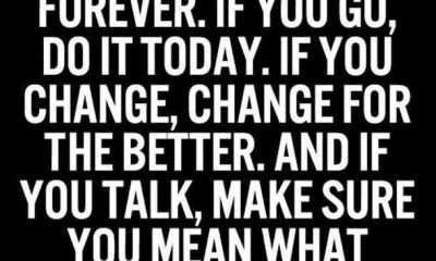 Positive quotes about life If you stay stay forever quotes on life