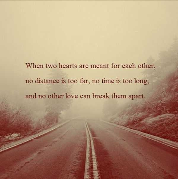 Quotes About Love And Distance Long Distance Relationship Quotes: When Two Heart Break Love  Quotes About Love And Distance