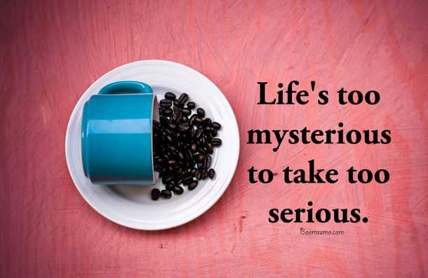 Inspirational life Quotes Words Of Wisdom Life's too mysterious Happiness Quotes about life sayings