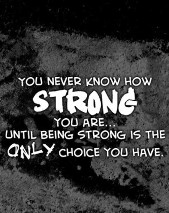 Be Strong My Love Quotes: Strength Quotes: How Strong You Are, Only Choice You Have