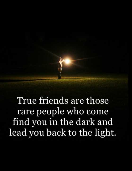 Best Quotes About Friendship: True Friends Rare People Who Come Find You  From Dark   BoomSumo Quotes