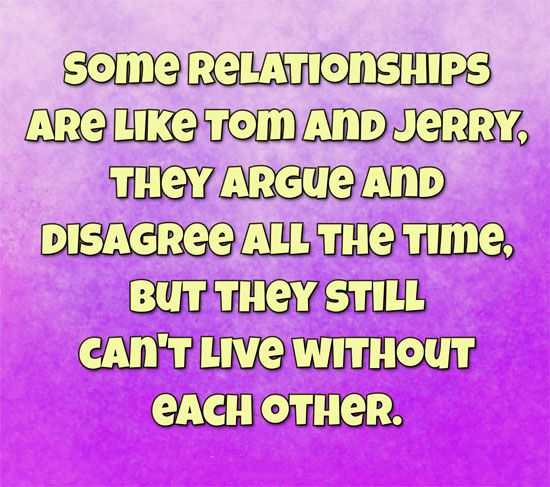 Hilarious Quotes To Live By Funny Quotes Relationships: Funny Marriage Quotes: Can't Live Without Each Other Tom