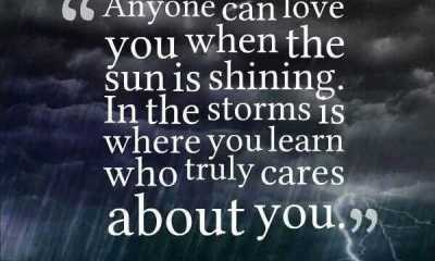 Best Love quotes and sayings where you learn who truly cares You