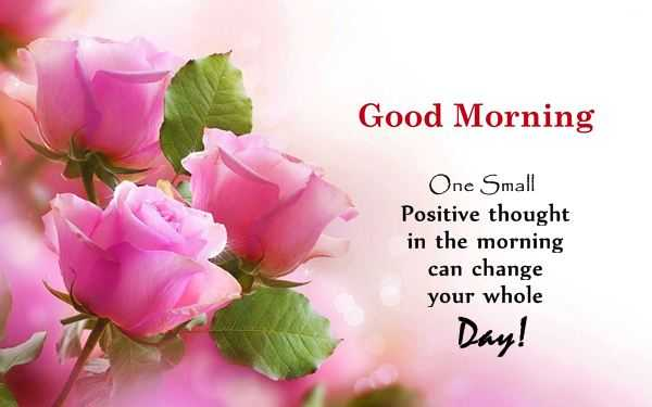 Thought For The Day Quotes Adorable Good Morning Quotes When One Positive Thought Change Your Day