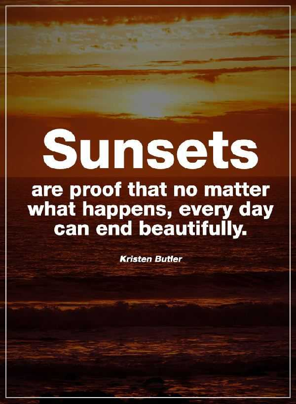 Happiness Quotes: Where No Matter What Happens, Sunsets Always Beautiful