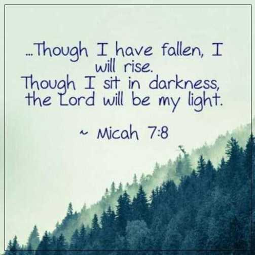 Bible Inspirational Quotes Stunning If I Have Fallen I Will Rise Bible Inspirational Quotes BoomSumo