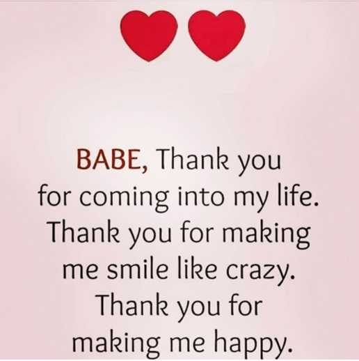 Inspirational Love Quotes Love Sayings Thank you Making me Happy Love