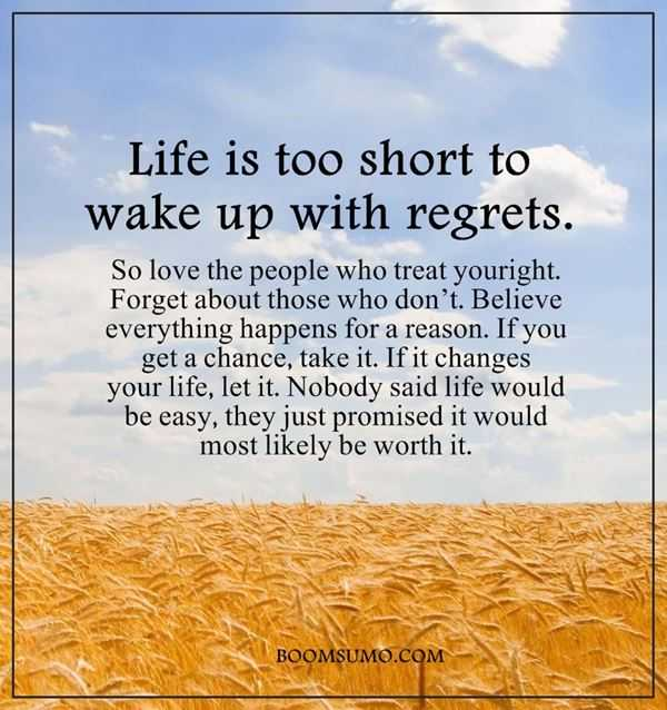 Short Quotes Life: Inspirational Life Quotes: Life Is Too Short 'Wake Up With