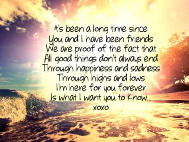 Best Friendship Quotes And Sayings I M Here For You Forever ...